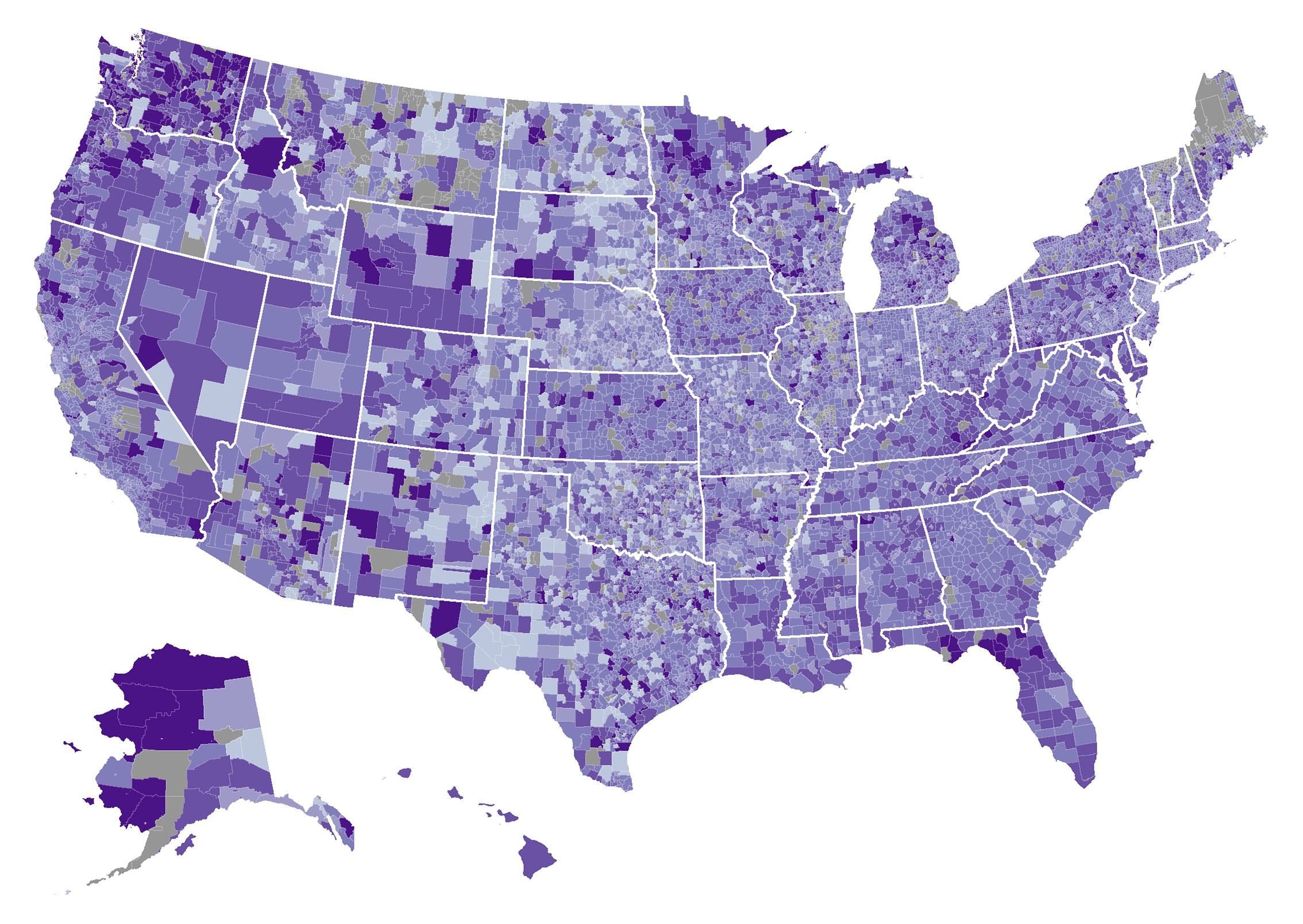 Chronic Absenteeism In The Nations Schools - Us map data