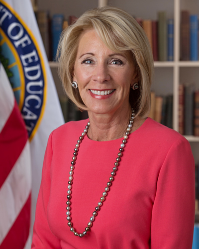 Photo of Secretary Betsy DeVos