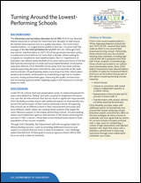 Turning Around the Lowest-Performing Schools